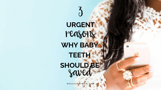 Why baby teeth should be saved, don't pull it