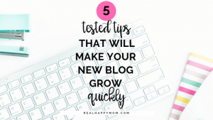 flatlay photo of keyboard with text overlay tips for new bloggers podcast with elna cain
