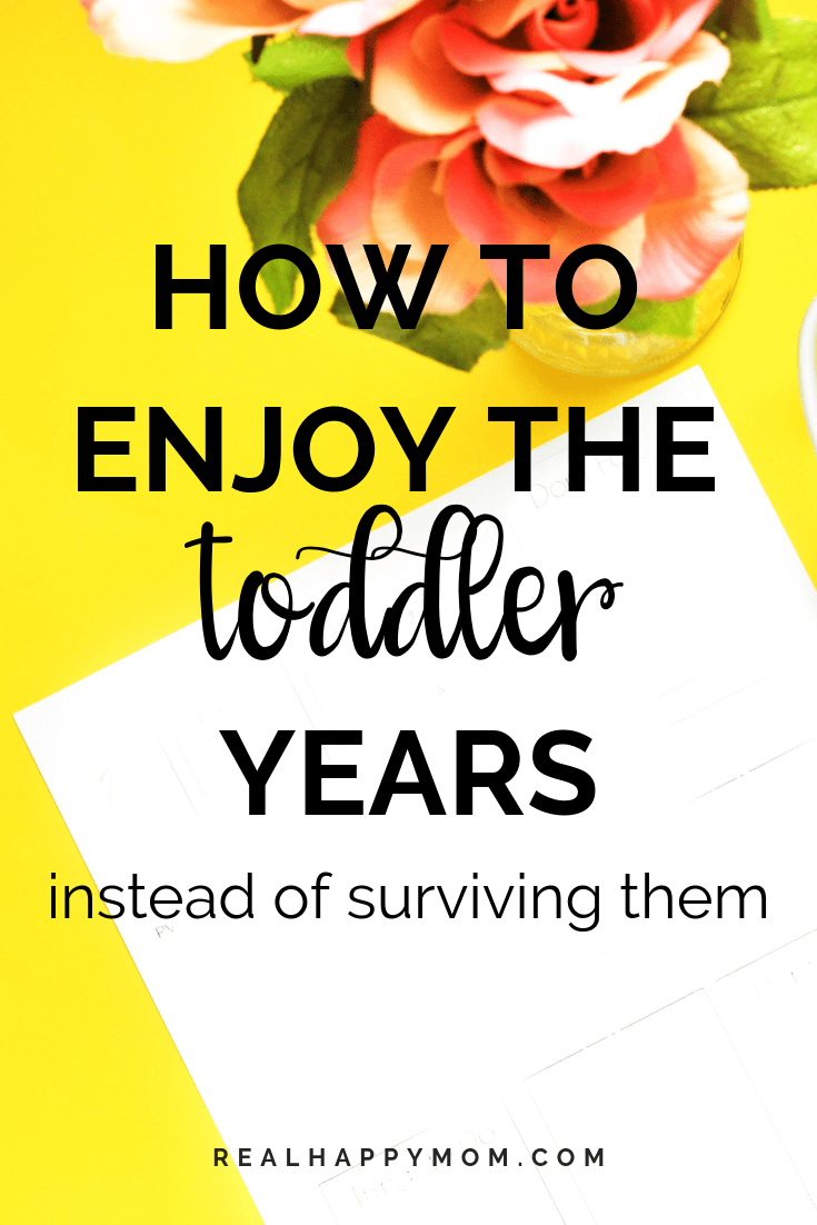 How to Enjoy the Toddler Years
