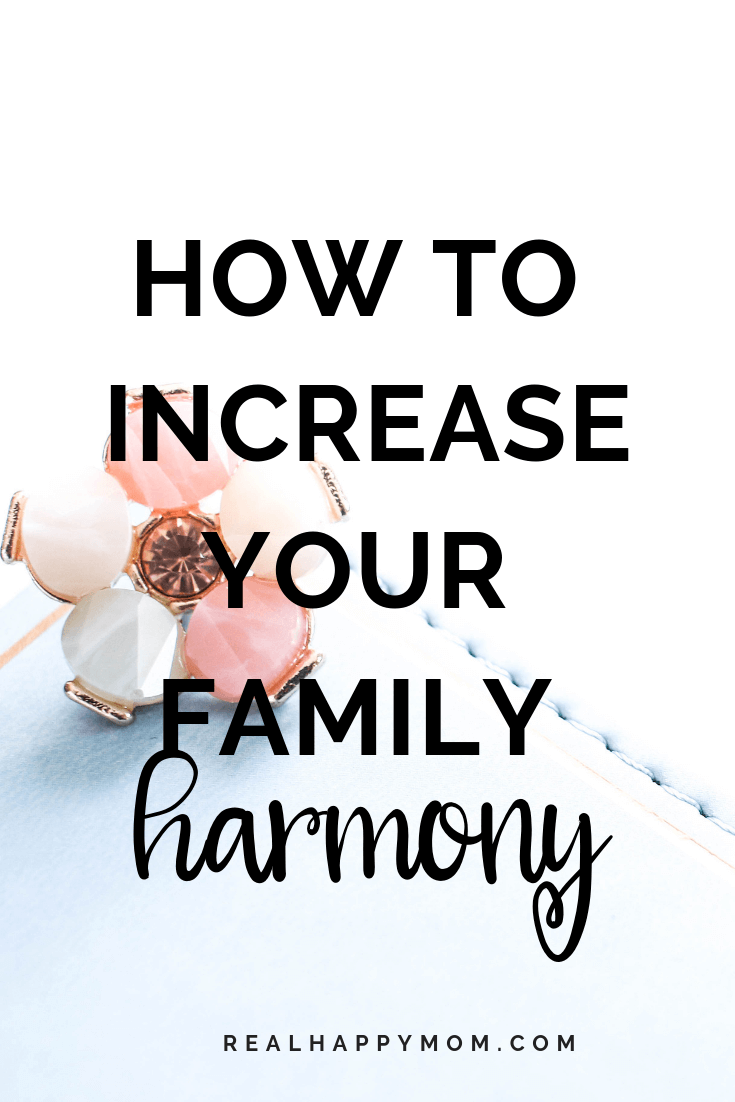 How to Increase Your Family Harmony