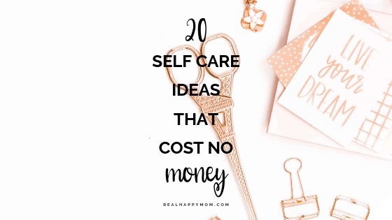 self care ideas that cost no money