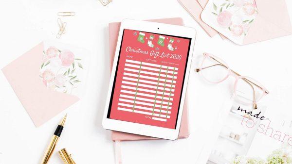 Christmas Gift List Mockup