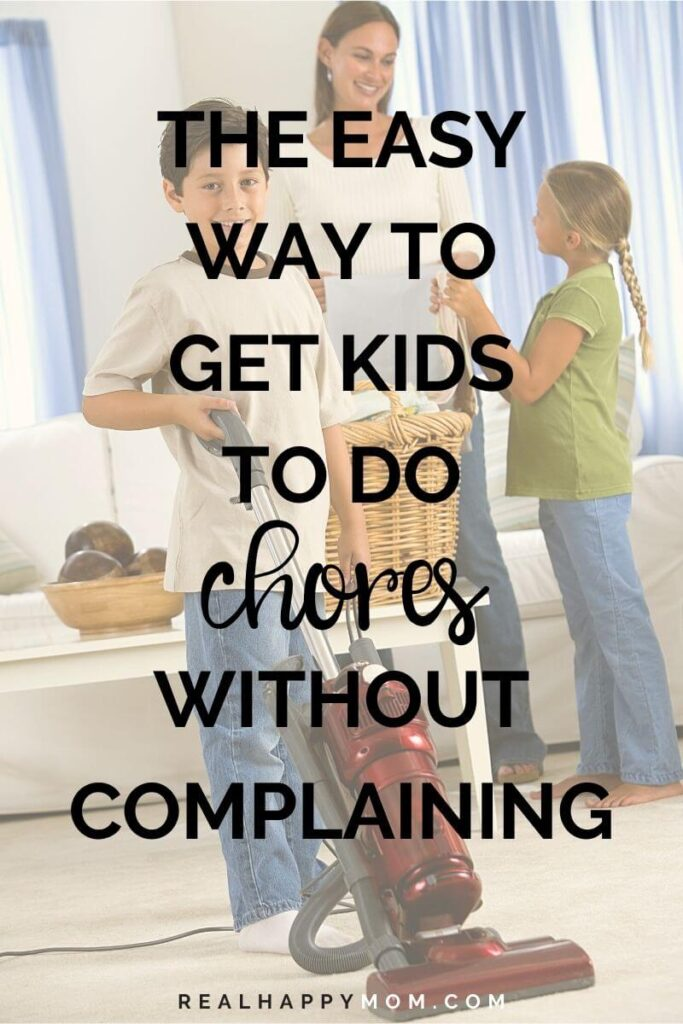 Title Image - The easy way to get kids to do chores without complaining
